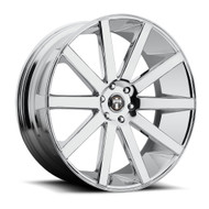 DUB Shot Calla Wheels 24x10 6x5.5 (6x139.7) Chrome 30mm | S120240077+30