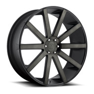 DUB Shot Calla Wheels 22x9.5 6x5.5 Black Dark Machine 30mm | S121229577+30
