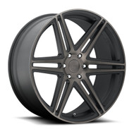 DUB Skillz Wheels 24x10 6x5.5 (6x139.7) Black Machine 30mm | S123240077+30