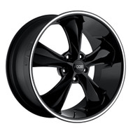 Foose Legend Wheels 17x7 5x4.75 (5x120.65) Black 1mm | F10417706140