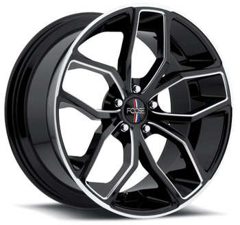 Foose Outkast Wheels 20x8.5 5x120 Black 35mm | F150208521+35