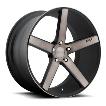 Niche Milan M134 Wheels 19x8.5 5x120 Black Machine 35mm | M134198521+35