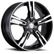 Platinum Saber 292B Wheels 16x7 5x100 & 5x4.5 (5x114.3) Black 42mm | 292-6718B
