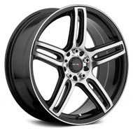 Drifz 307MB Tech R Wheels 18x8 5x112 & 5x120 Black Machine 35mm | 307MB-8802235
