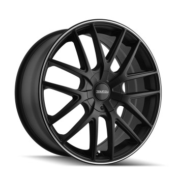 Touren TR60 Wheels 17x7.5 5x108 & 4x108 Black Machine 42mm | 3260-7720MB