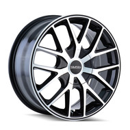 Touren TR60 Wheels 18x8 5x115 & 5x120 Black Machine 20mm | 3260-8818B