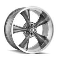 Ridler 695 Wheels 18x8 5x4.75 (5x120.65) Grey Machine 0mm | 695-8861G