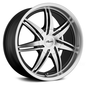 Pacer 773MB Mantis Wheels 15x7 5x100 & 5x115 Diamond Cut Black 42mm | 773MB-5713UH+42