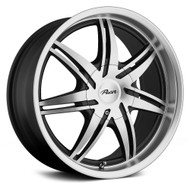 Pacer 773MB Mantis Wheels 17x7.5 5x100 & 5x4.5 Diamond Cut Black 42mm | 773MB-7718UH+42