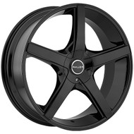 Akuza Axis Wheel 20x8.5 5x108 & 5x4.5 (5x114.3) Gloss Black 45mm Offset