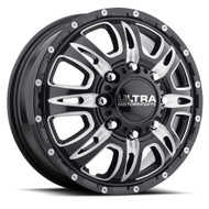 Ultra 049BM Predator Dually Wheels 17x6.5 8x200 Black 129mm | 049-7692FBM
