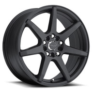 Raceline Evo Wheels Black 17x7.5 4x100 4x108 40MM | 131B-77582+40