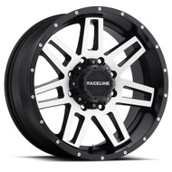 Raceline Injector Wheels Black Machine 20x12 6x135 6x5.5 (6x139.7) -44 MM | 931M-21266-44