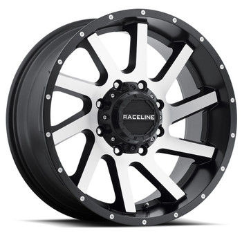 Raceline Twist Wheels Black Machine 20x12 8x170 -44 MM | 932M-21281-44