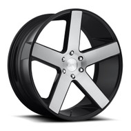 DUB Baller 22x9.5 Wheels Black Brushed 6x5.5 (6x139.7) 31 | S217229577+31