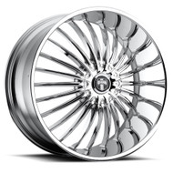 DUB Suave 24x9.5 Wheels Chrome 5x115 5x4.75 15 | S140249506+15