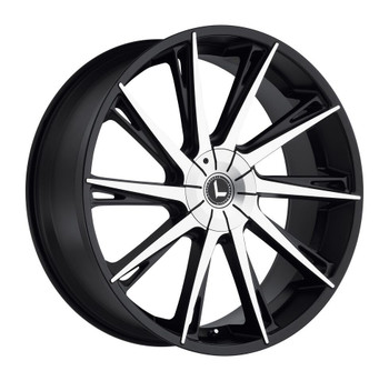 Kraze Swagg 144 24x9 Wheels Black Machined 5x5.5 5x127 18 | KR144-249525BM