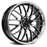 Drifz Vortex 302MB Black Machined Wheels Rims 17x7.5 4x100 4x4.5  42 | 302MB-7750342