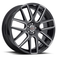 Milanni Virtue 9022 Wheel 20x8.5 5x4.75 Black Milled 38mm - BLOW OUT PRICING! - NO RETURNS -