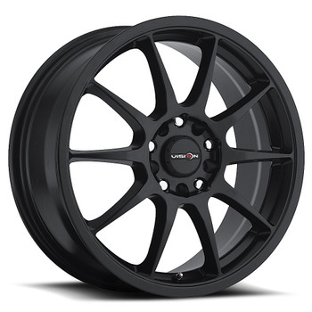 Vision Bane 425 Matte Black Wheels Rims 15x6.5 5x100 5x4.5  38 | 425-5618MB38