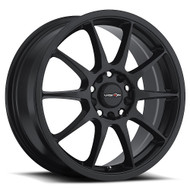 Vision Bane 425 Wheel 15x6.5 5x100 & 5x4.5 (5x114.3) Matte Black 38mm Offset