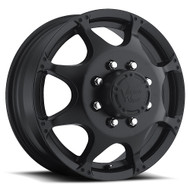 Vision Crazy Eight 715 Dually Wheel 17x6.5 8x210 Matte Black Front 121.35mm