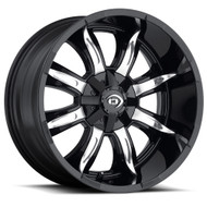 Vision Manic 423 Wheel 18x9 8x180 Black Machined 12mm Offset
