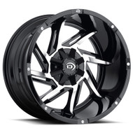 Vision Prowler 422 Wheel 20x12 5x4.5 (5x114.3) & 5x127 Black Machined -51mm