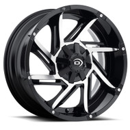 Vision Prowler 422 Wheel 17x9 5x4.5 (5x114.3) & 5x127 Black Machined -12mm