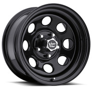 Vision Soft 8 85 Wheel 15x8 5x5.5 (5x139.7) Black -19mm Offset