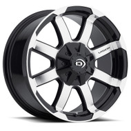 Vision Valor 413 Wheel 18x8.5 5x5.5 (5x139.7) & 5x150 Black Machined 18mm Offset