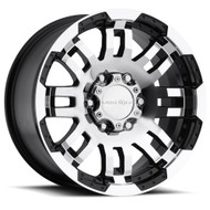 Vision Warrior 375 Wheel 16x8 5x4.5 (5x114.3) Black Machined 0mm Offset