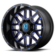 XD Series Grenade Black w/ Blue Clear Coat Wheels Rims 20x10 8x6.5 (8x165.1)  -24 | XD82021080924NBC