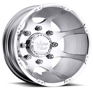 Vision Crazy Eight 715 Dually Wheel 16x6 8x170 Chrome Rear -137mm Offset