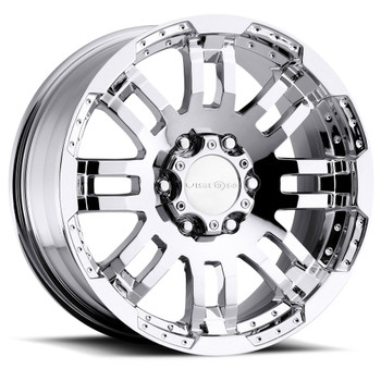 Vision Warrior 375 Chrome Wheels Rims 17x8.5 8x6.5 (8x165.1)  18 | 375-7881C18