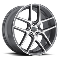 Milanni Tycoon 9052 Graphite Machined Wheels Rims 22x9 5x115  38 | 9052-22990GRM38