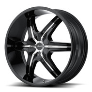 Helo HE891 Black Wheels Rims 24x9 Blank 35 | HE89124900335