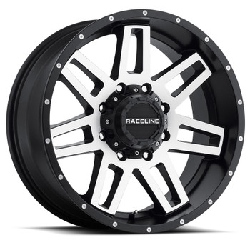 Raceline Injector Black Machined Wheels Rims 17x9 Blank -12 | 931M-79000-12(6P)