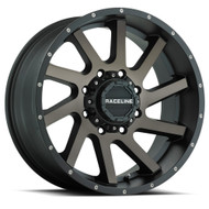 Raceline Twist Black Machined w/ Dark Tint Wheels Rims 20x9 Blank -12 | 932DM-29000-12(6P)