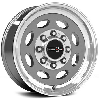 Vision Hauler 81 Gun Metal Machined Wheels Rims 19.5x7.5 8x6.5 (8x165.1)  0 | 81A-9781GML0NR