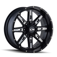 Ion 184 Wheels Rims 17x9 Black Milled 6x135 6x5.5 (6x139.7) -12mm | 184-7937M | Free Shipping!