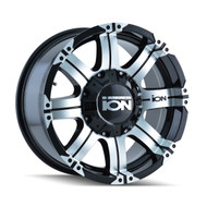 Ion 187 Wheels Rims 17x9 Black Machined 5x127 (5x5) 5x5.5 (5x139.7) -12mm | 187-7952B | Free Shipping!
