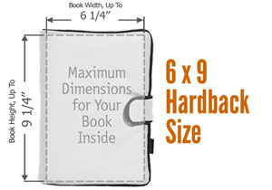 6 x 9 Hardback or Larger Paperback Book Cover Size