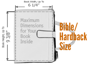 Bible and Large Hardback Book Cover Size