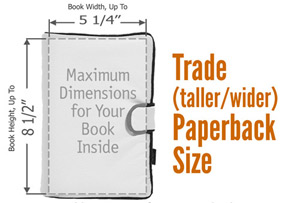 Trade (taller/wider) Paperback Book Cover Size