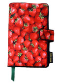 Strawberries Fabric Book Cover Design