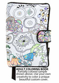 Use your own creativity to color this coloring book pattern making it unique with your own favorite colors. Use pens made for coloring fabrics, which you can find at craft stores like Michaels or Hobby Lobby. The book cover shown here is only partially colored so that you can see before and after.