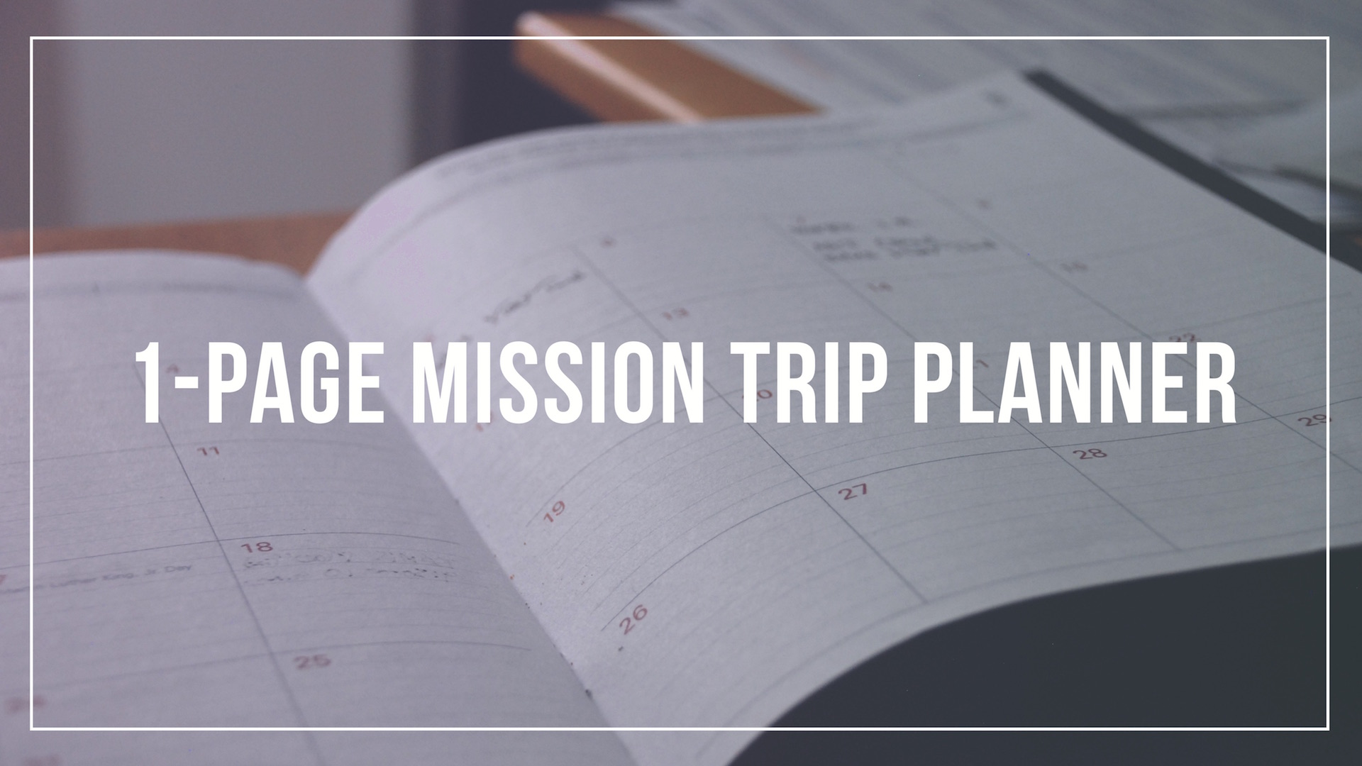 1-Page mission trip planner