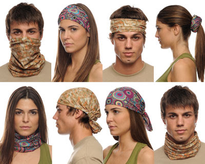A few of the ways you can wear Buff Headwear.