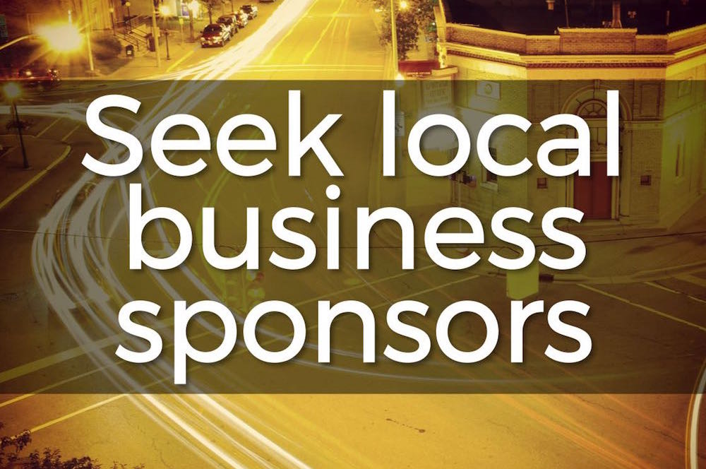 Über practical fundraising: Seek local business sponsors (6 steps)